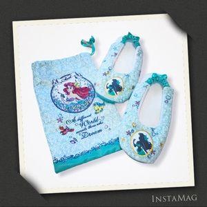 DISNEY Ariel Little Mermaid House Slippers